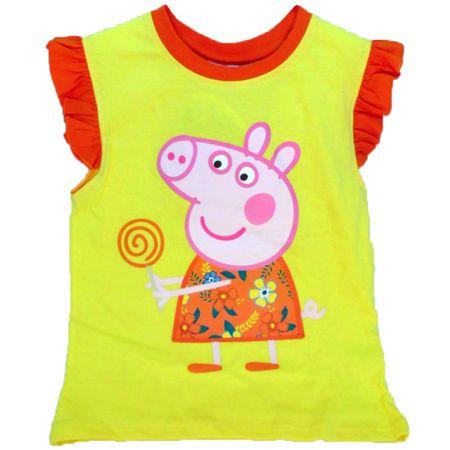 Peppa Pig Top Shirt 2 3 4 5 6 jahre gelb supersüß Schweinchen