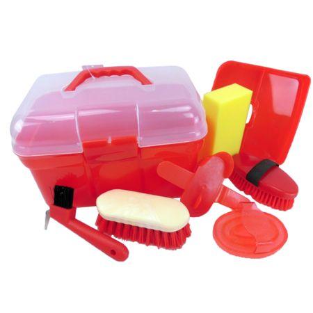 Kinder Pferdeputzkiste Pferdeputzkasten Putzkiste Putzbox gefüllt mit Putzzeug – Bild 2
