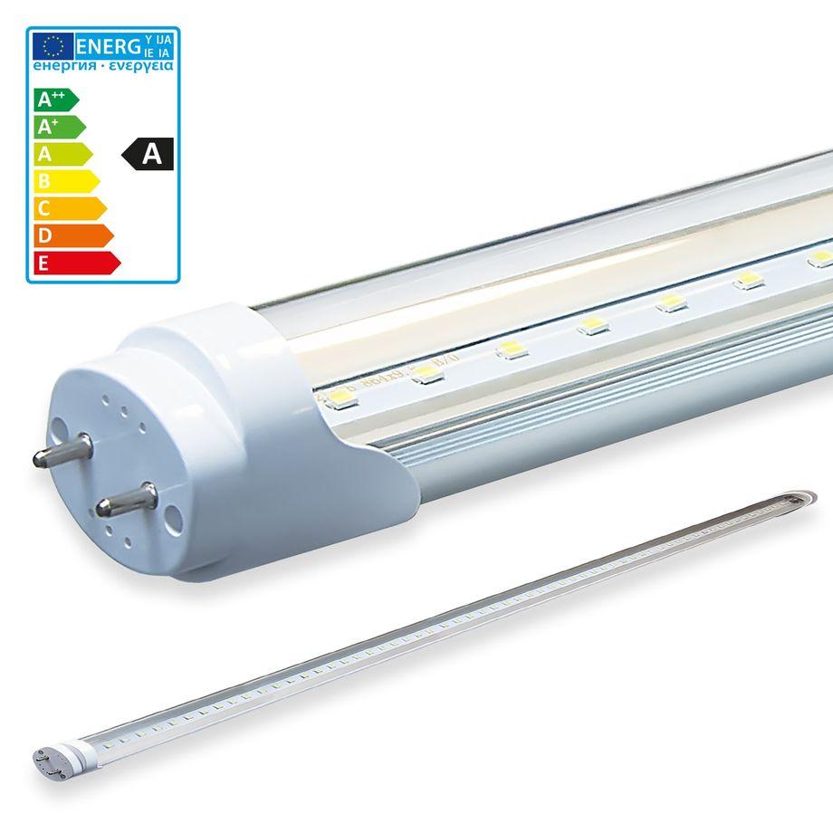 LEDVero 1x SMD LED Röhre / Tube Leuchtstoffröhre T8 G13 transparent Abdeckung - 180 cm, 32 W, 3200lm- montagefertig – Bild 1