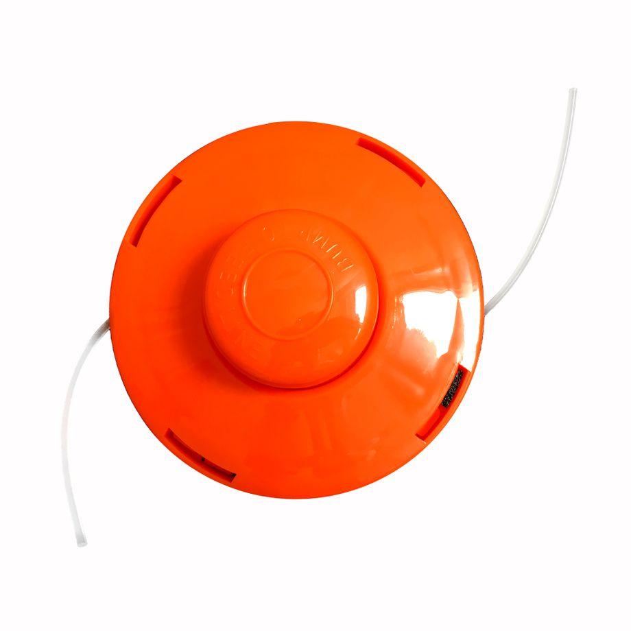 NEMAXX FS1 Fadenspule mit Tippautomatik, Doppelfadenkopf für Benzin Motorsense - Rasentrimmer Fadenkopf, Freischneider Grasschneider, Zubehör Ersatz Spule  - Orange – Bild 1