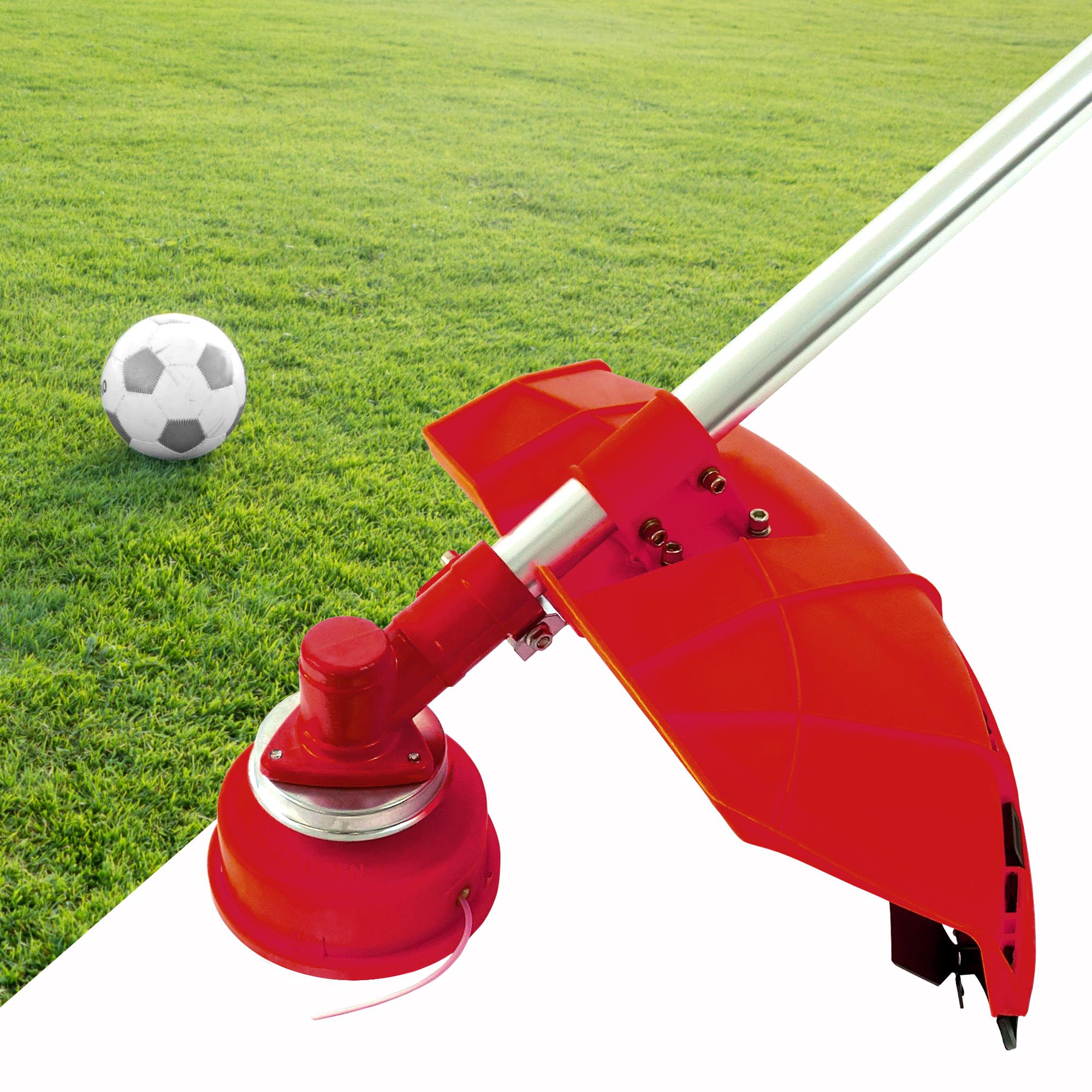 NEMAXX FS2 Fadenspule mit Tippautomatik, Doppelfadenkopf für Benzin Motorsense - Rasentrimmer Fadenkopf, Freischneider Grasschneider, Zubehör Ersatz Spule  - Rot