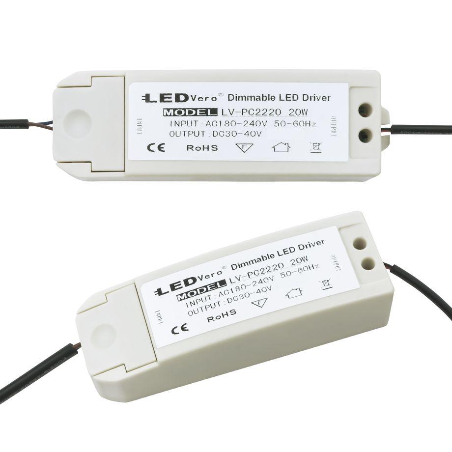 20W LED Transformator dimmbar für 30x60 Ultraslim LED Panel EMV2016 Trafo Treiber Driver Controller für Einbaustrahler Einbauleuchte Deckenleuchte – Bild 1