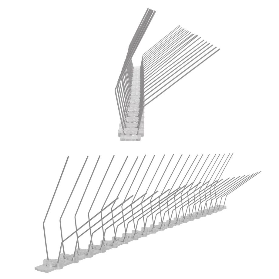 3,3 feet (1 meter) pigeon spikes for gutter 2 rows on polycarbonate - high-quality solution for bird control spikes – Bild 1