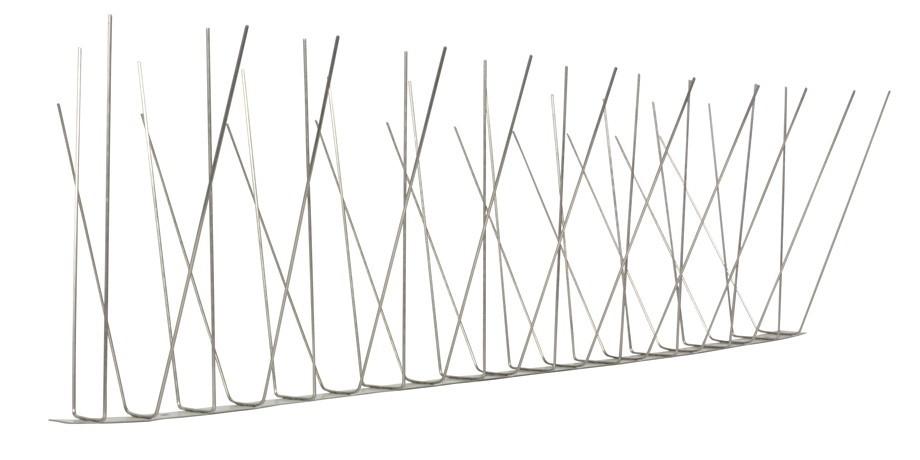 1 Meter Möwenspikes 4-reihig auf V2A-Standard - hochwertige Lösung für Vogelabwehr Taubenabwehr Edelstahl Spikes – Bild 3