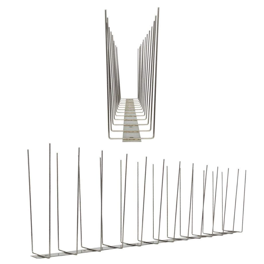 3.3 feet (1 Meter) 2 row seagull spikes on stainless steel base - high quality solution for bird control spikes - Titan – Bild 1