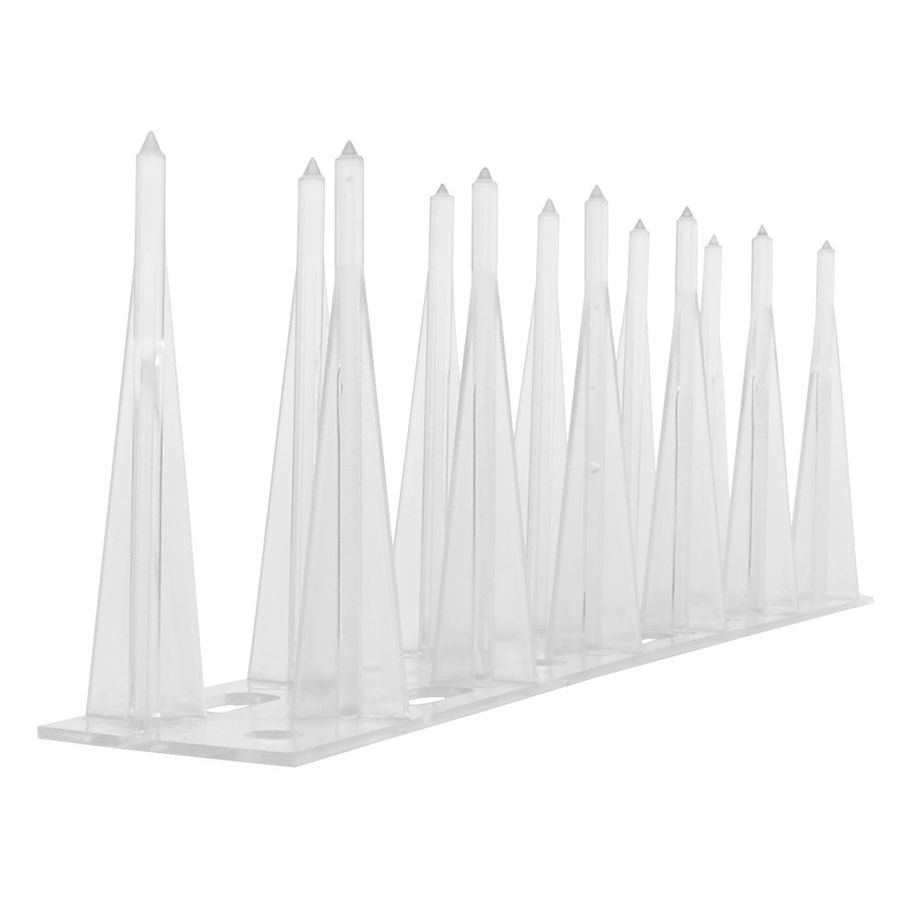 3,3 foot (1 meter) pigeon spikes 2-row polycarbonate 033 - high quality solution fully made of polycarbonate for bird control spikes – Bild 5