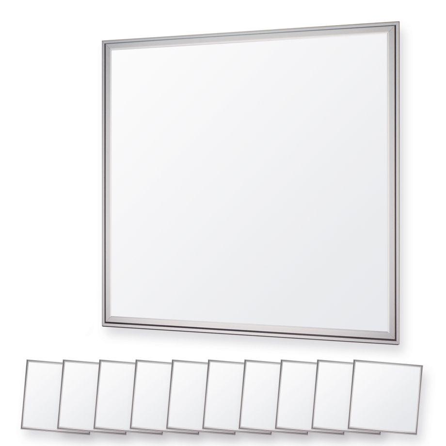 LEDVero 10er Set 60x60cm Ultraslim LED Panel dimmbar  36W, 3000lm, 4500K Deckenleuchte mit Befestigungsclips und EMV2016 Trafo -Neutralweiß- Energieklasse A – Bild 1