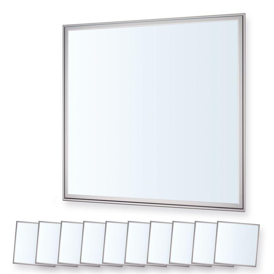 LEDVero 10er Set 60x60cm Ultraslim LED Panel dimmbar  36W, 3000lm, 6000K Deckenleuchte mit Befestigungsclips und EMV2016 Trafo -Kaltweiß- Energieklasse A – Bild 1