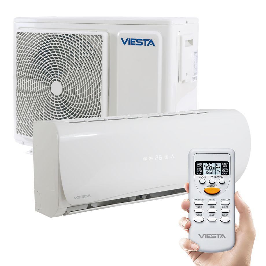 Viesta Klimaanlage AC09 energiesparendes Klima Splitgerät - 9000 BTU für Räume bis 32qm - angenehm leise - Timer- und Entfeuchter-Funktion - weiß – Bild 1