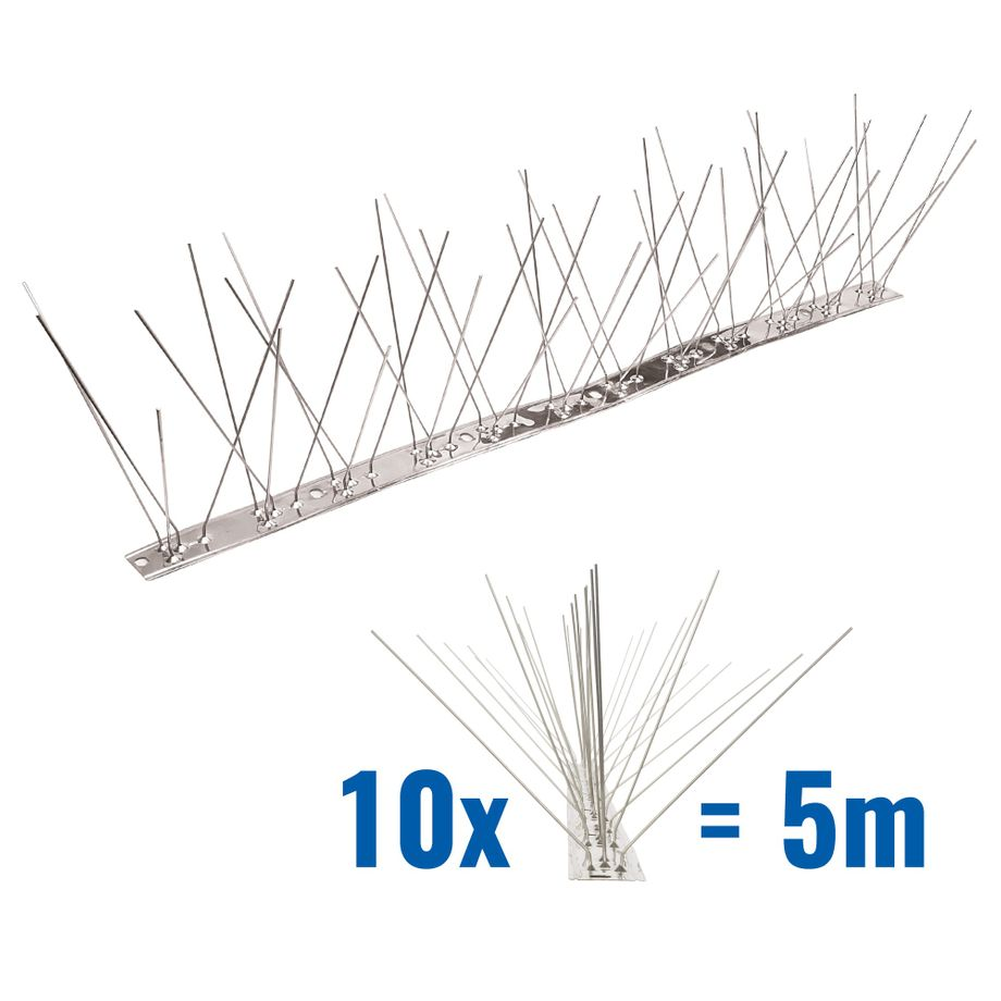 16.4 feet (5 meter) 5 row pigeon spikes on stainless steel base - high quality solution for bird control spikes – Bild 1