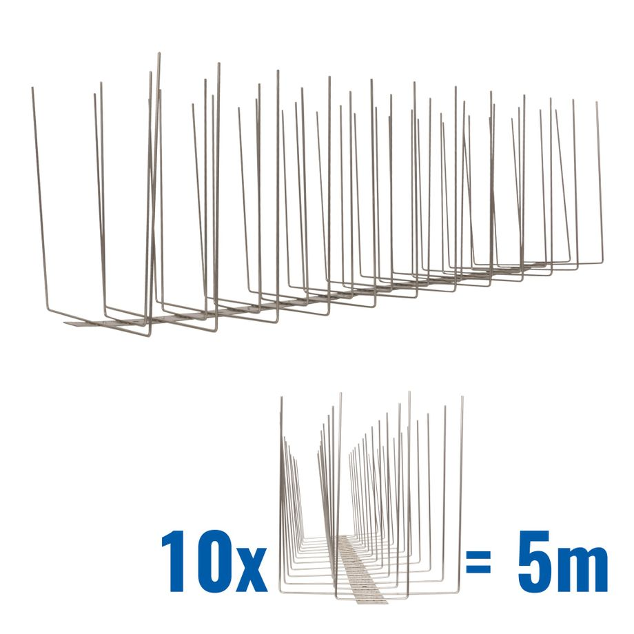 16.4 feet (5 meter) 4 row seagull spikes on stainless steel base - high quality solution for bird control spikes - Titan – Bild 1