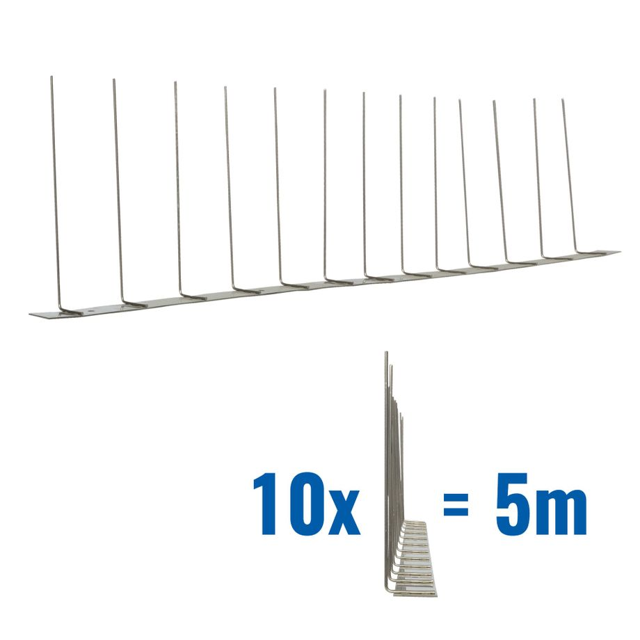 16.4 feet (5 meter) 1 row seagull spikes on stainless steel base - high quality solution for bird control spikes - Titan – Bild 1