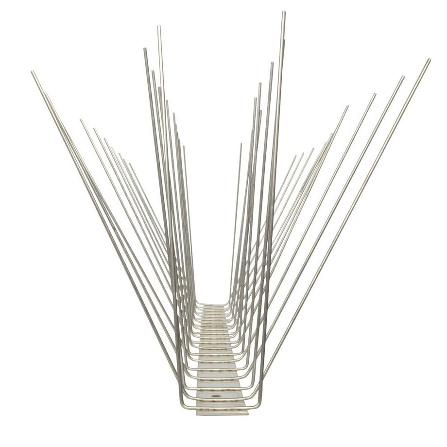 32.8 feet (10 meter) 4 row seagull spikes on stainless steel base - high quality solution for bird control spikes – Bild 5
