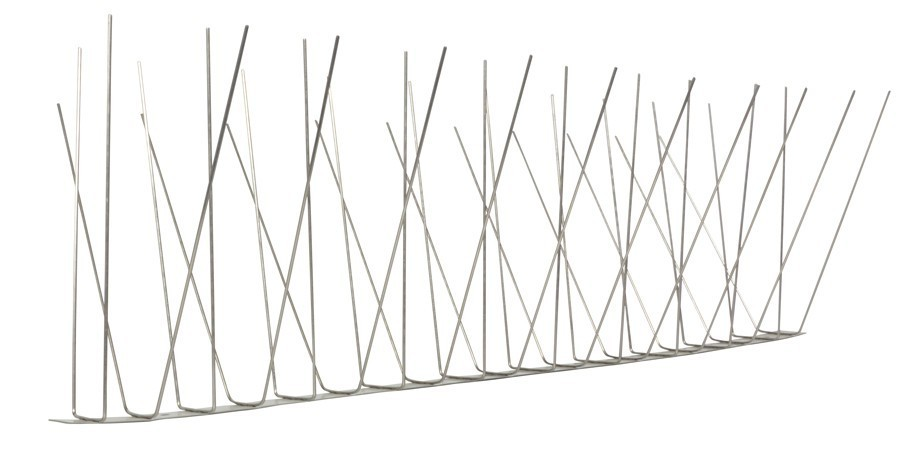 32.8 feet (10 meter) 4 row seagull spikes on stainless steel base - high quality solution for bird control spikes – Bild 4