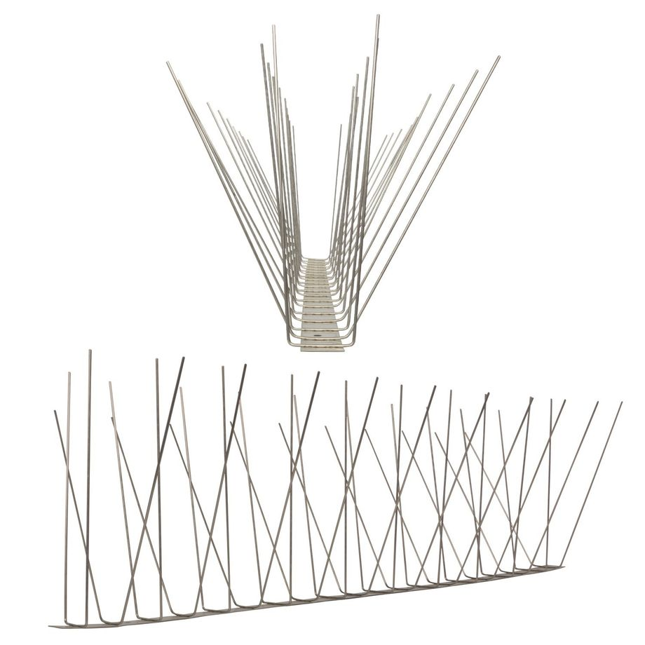 32.8 feet (10 meter) 4 row seagull spikes on stainless steel base - high quality solution for bird control spikes – Bild 2