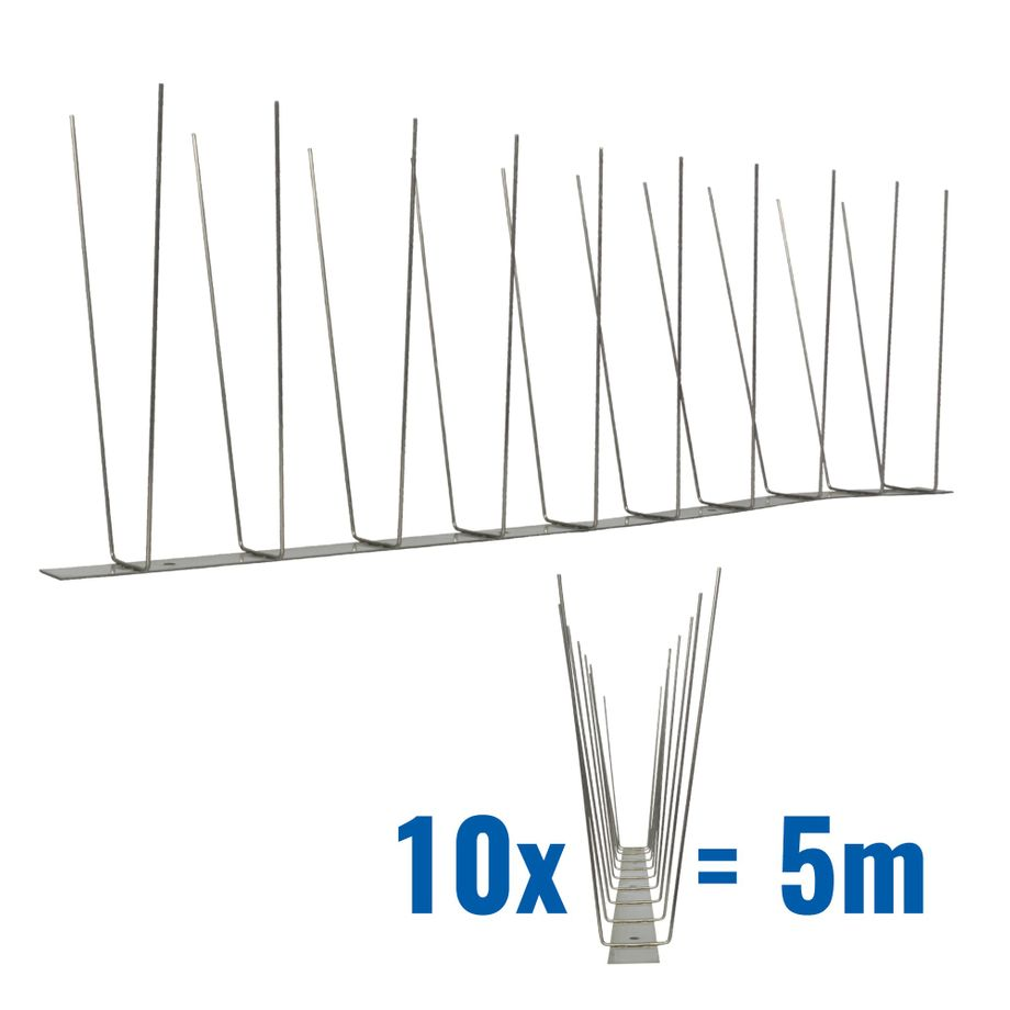 16.4 feet (5 meter) 3 row seagull spikes on stainless steel base - high quality solution for bird control spikes – Bild 1