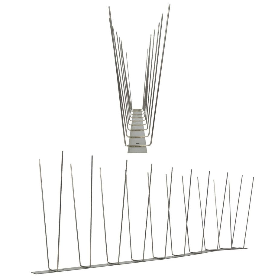 32.8 feet (10 meter) 3 row seagull spikes on stainless steel base - high quality solution for bird control spikes – Bild 2