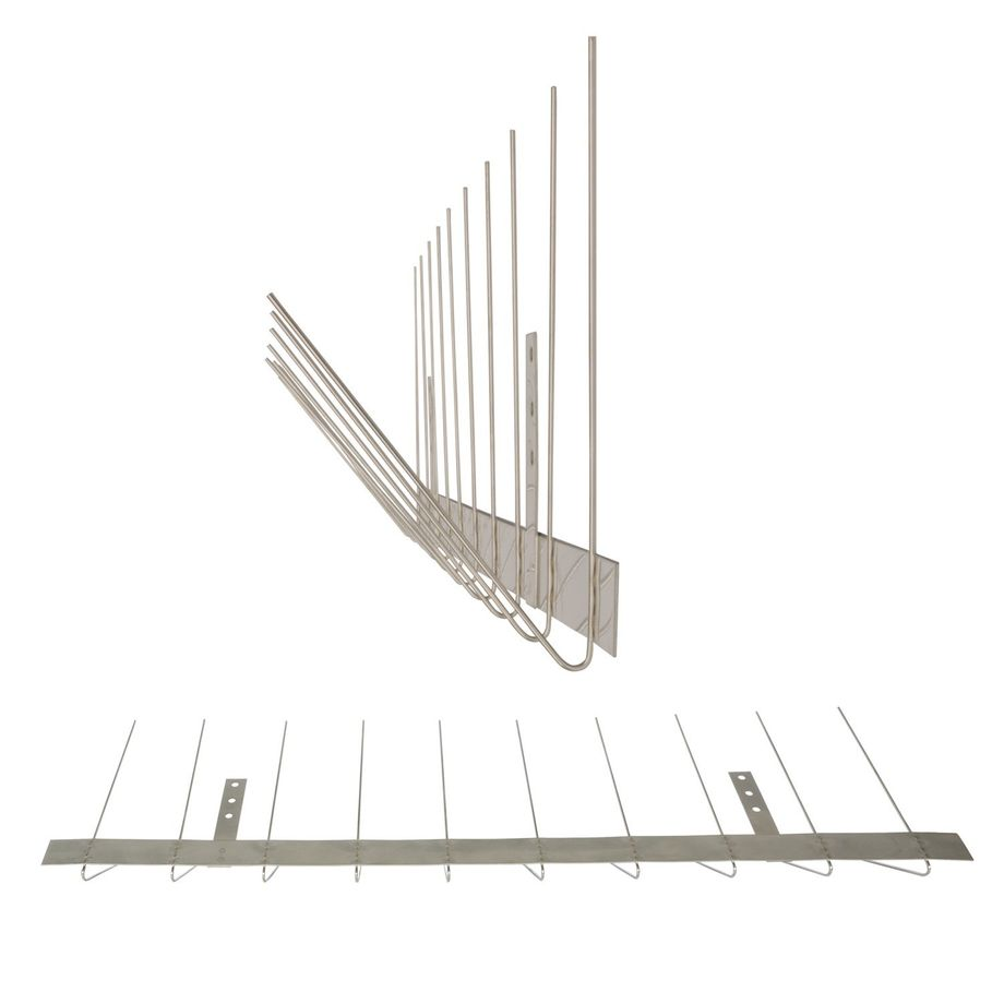 32.8 feet (10 meter) Standard pigeon spikes for gutter 2 rows on stainless steel base - high-quality solution for bird control spikes – Bild 2