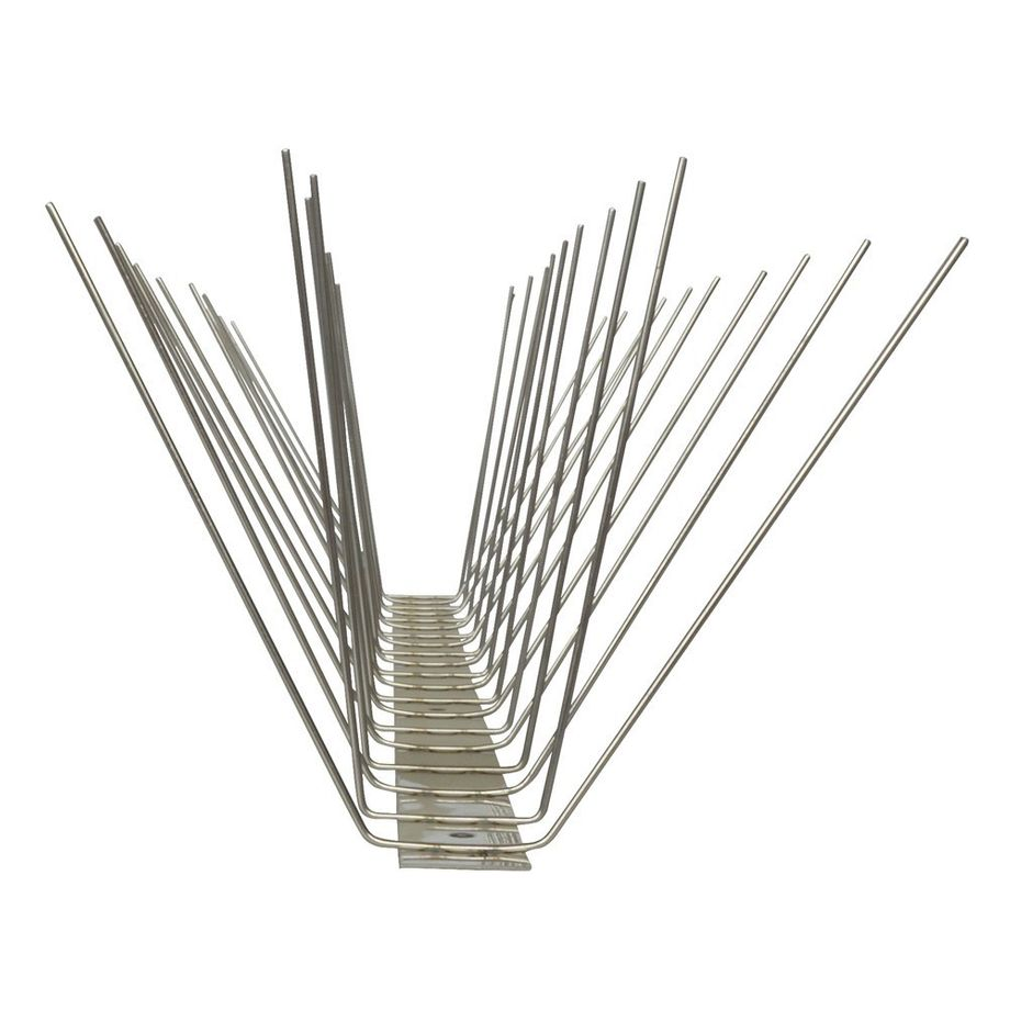 32.8 feet (10 meter) 4 row pigeon spikes on stainless steel base - high quality solution for bird control spikes – Bild 5