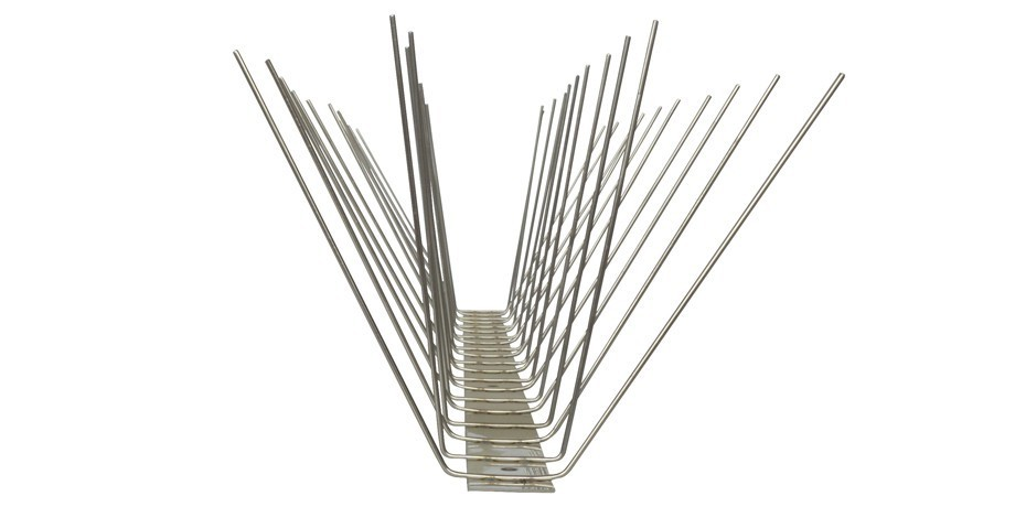 32.8 feet (10 meter) 4 row pigeon spikes on stainless steel base - high quality solution for bird control spikes – Bild 4