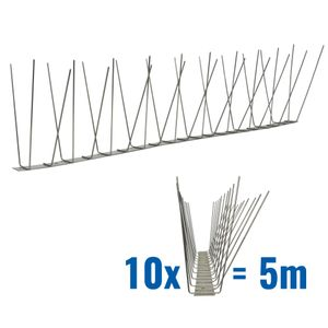 16.4 feet (5 meter) 3 row pigeon spikes on stainless steel base - high quality solution for bird control spikes 001