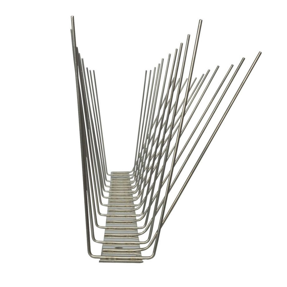32.8 feet (10 meter) 3 row pigeon spikes on stainless steel base - high quality solution for bird control spikes – Bild 5