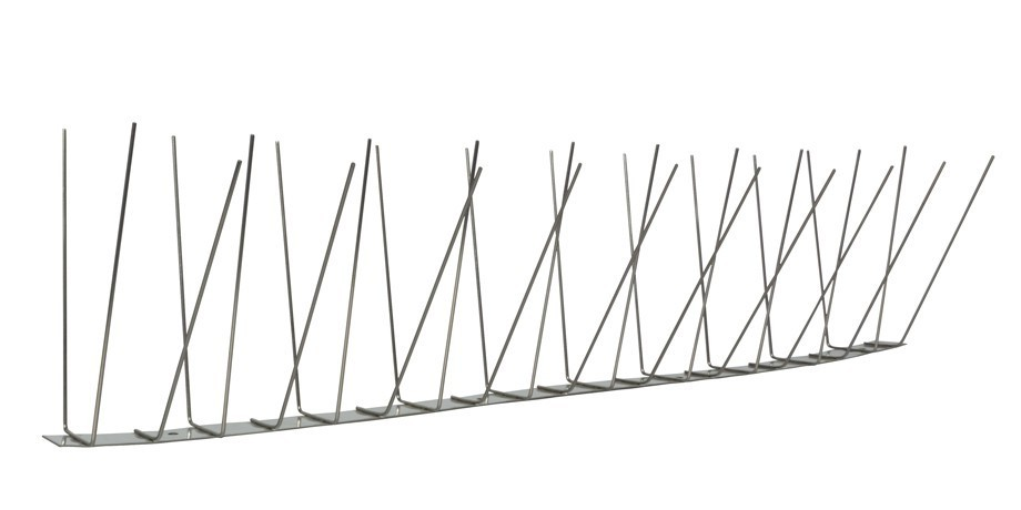 32.8 feet (10 meter) 3 row pigeon spikes on stainless steel base - high quality solution for bird control spikes – Bild 3