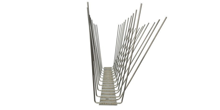 32.8 feet (10 meter) 3 row pigeon spikes on stainless steel base - high quality solution for bird control spikes – Bild 4