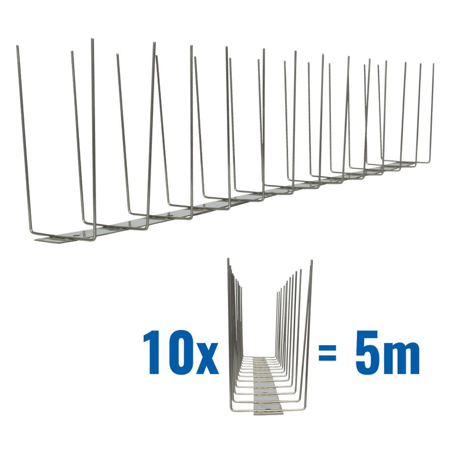 16.4 feet (5 meter) 2 row pigeon spikes on stainless steel base TITAN - high quality solution for bird control spikes – Bild 1
