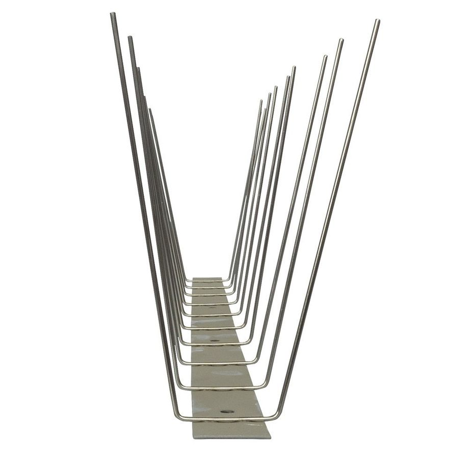 32.8 feet (10 meter) 2 row pigeon spikes on stainless steel base - high quality solution for bird control spikes – Bild 5