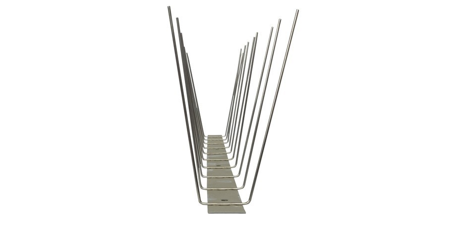 32.8 feet (10 meter) 2 row pigeon spikes on stainless steel base - high quality solution for bird control spikes – Bild 4