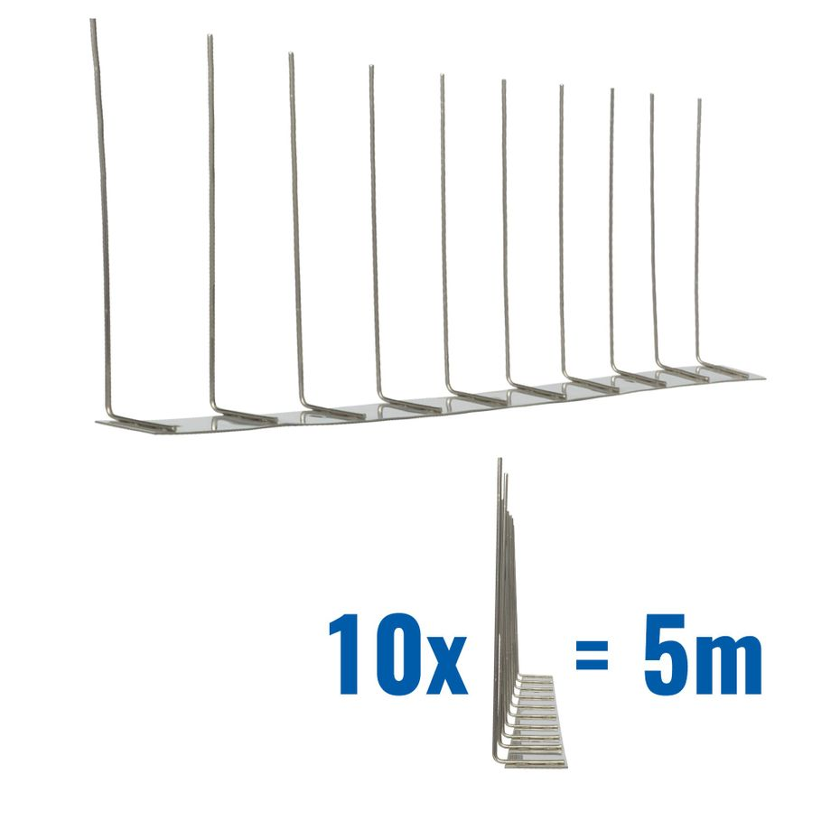 16.4 feet (5 meter) 1 row pigeon spikes on stainless steel base - high quality solution for bird control spikes – Bild 1