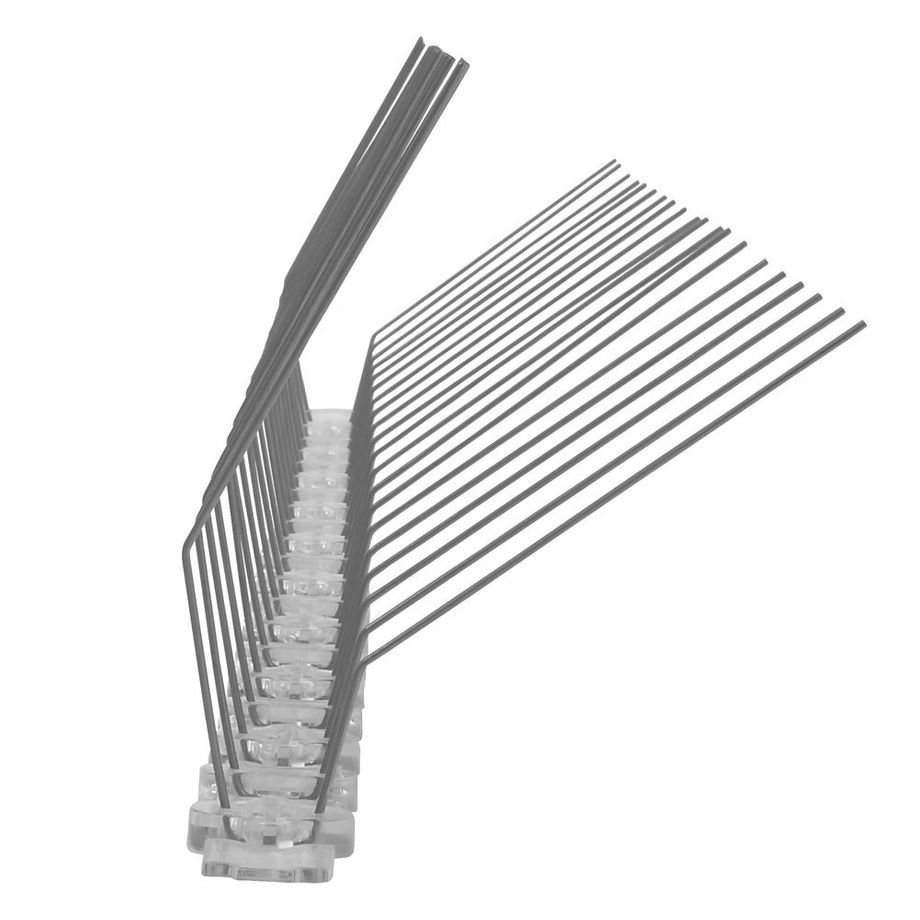 32.8 feet (10 meter) pigeon spikes for gutter 2 rows on polycarbonate - high-quality solution for bird control spikes – Bild 5