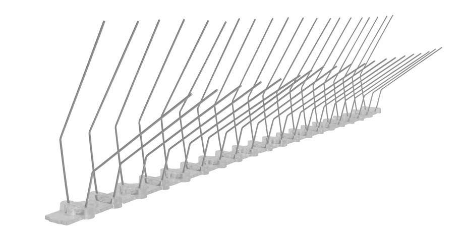 32.8 feet (10 meter) pigeon spikes for gutter 2 rows on polycarbonate - high-quality solution for bird control spikes – Bild 3