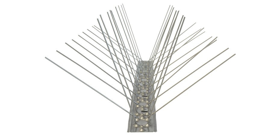 16.4 feet (5 meter) 4 row pigeon spikes on stainless steel base - high quality solution for bird control spikes – Bild 6
