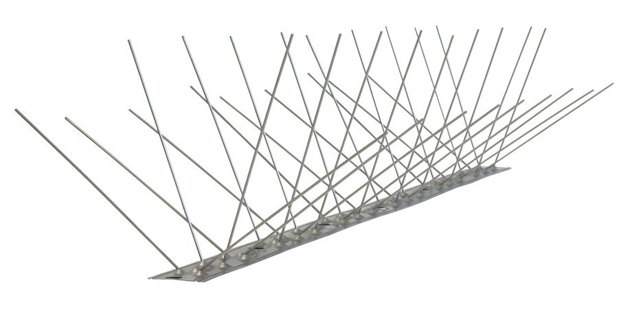 32.8 feet (10 meter) 4 row pigeon spikes on stainless steel base - high quality solution for bird control spikes – Bild 3