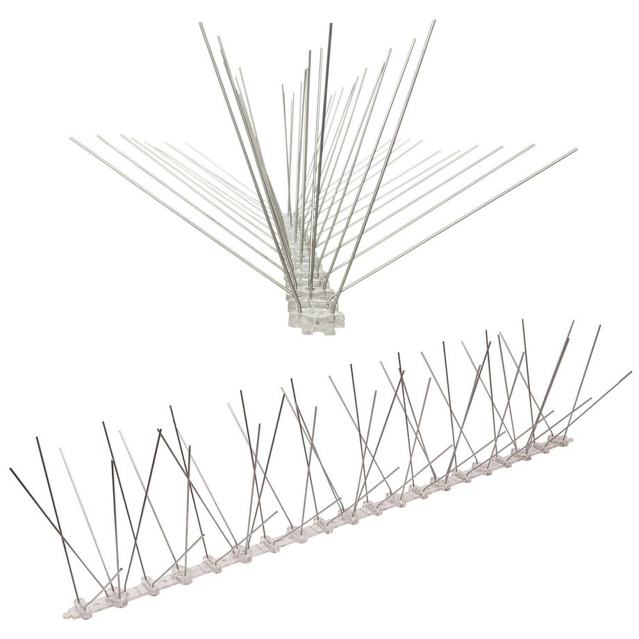 32.8 feet (10 meter) 5 row pigeon spikes on polycarbonat base - high quality solution for bird control spikes – Bild 2
