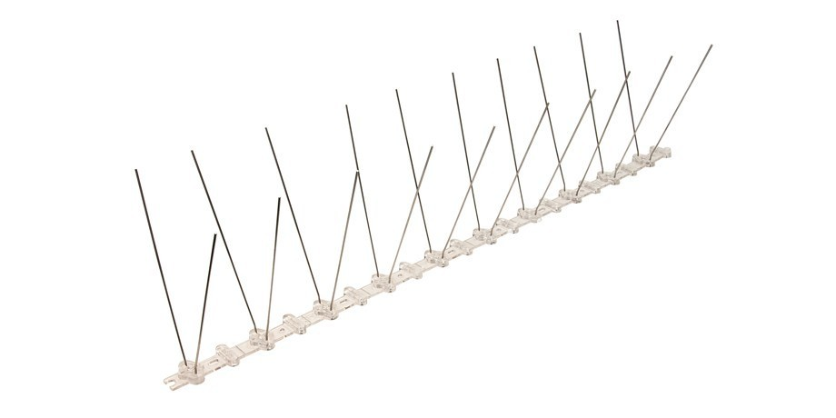 32.8 feet (10 meter) 2 row pigeon spikes on polycarbonat base - high quality solution for bird control spikes – Bild 3