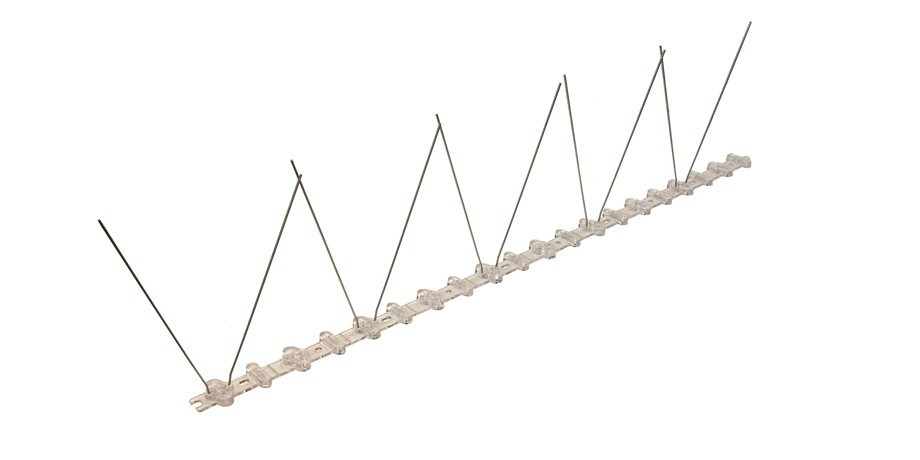 32.8 feet (10 meter) 1 row pigeon spikes on polycarbonat base - high quality solution for bird control spikes – Bild 3