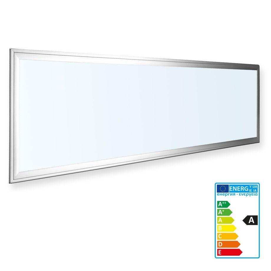 1x LEDVero 120x30 ENEC High Lumen 45W Ultraslim LED Panel 3500lm Deckenleuchte mit Befestigungsclips und EMV Trafo - Kaltweiß - Energieklasse A – Bild 1