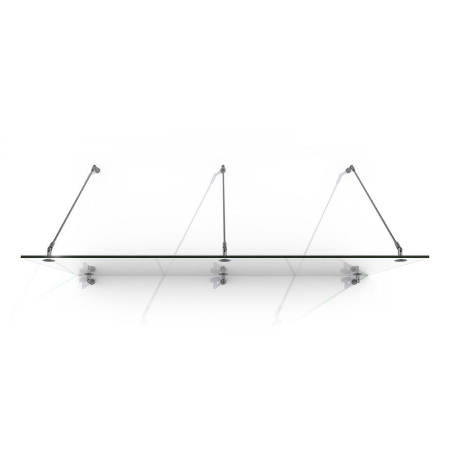 Nemaxx Glasvordach GVK 250 x 90 cm - KLAR, VSG Türvordach, Haustür Überdachung inkl. Edelstahl Halter – Bild 1