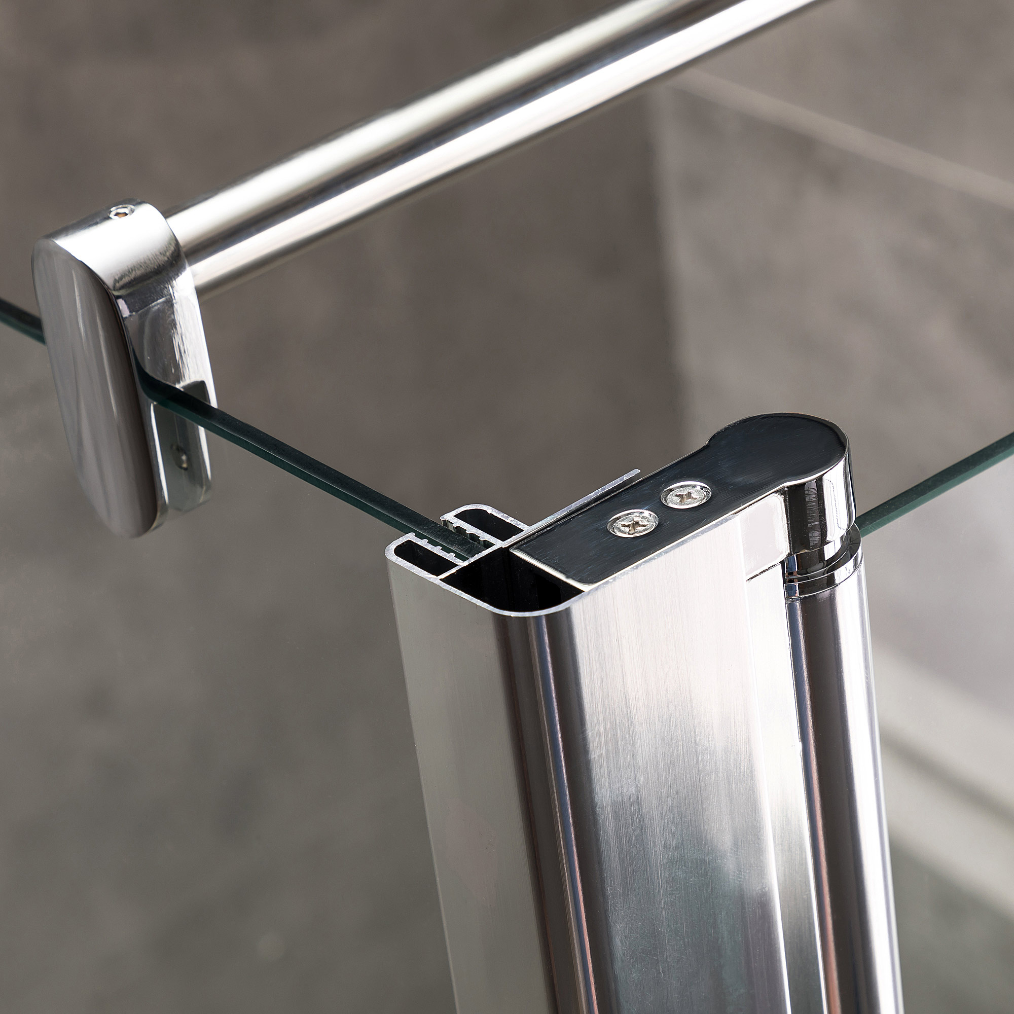 Viesta Duschwand, Duschtrennwand DWP70 - inkl. Eckpaneel (30 cm) - Duschabtrennung aus ESG Sicherheitsglas mit Nano-Beschichtung und Montagezubehör 70x195 cm