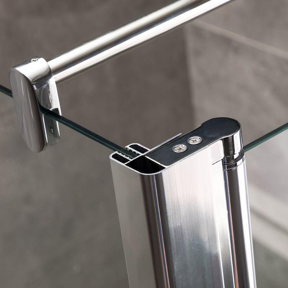 Viesta Duschwand, Duschtrennwand DWP70 - inkl. Eckpaneel (30 cm) - Duschabtrennung aus ESG Sicherheitsglas mit Nano-Beschichtung und Montagezubehör 70x195 cm – Bild 1