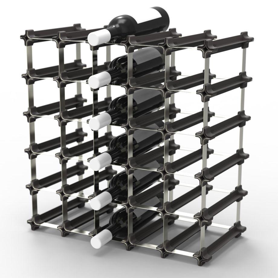 NOOK Weinregal 25er Medium Kit - modulares Regalsystem für Weinflaschen - praktisches Flaschenregal flexibel erweiterbar zur optimalen Lagerung von Flaschen – Bild 1