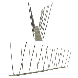 3.3 feet (1 Meter) 2 row pigeon spikes on stainless steel base - high quality solution for bird control spikes 001