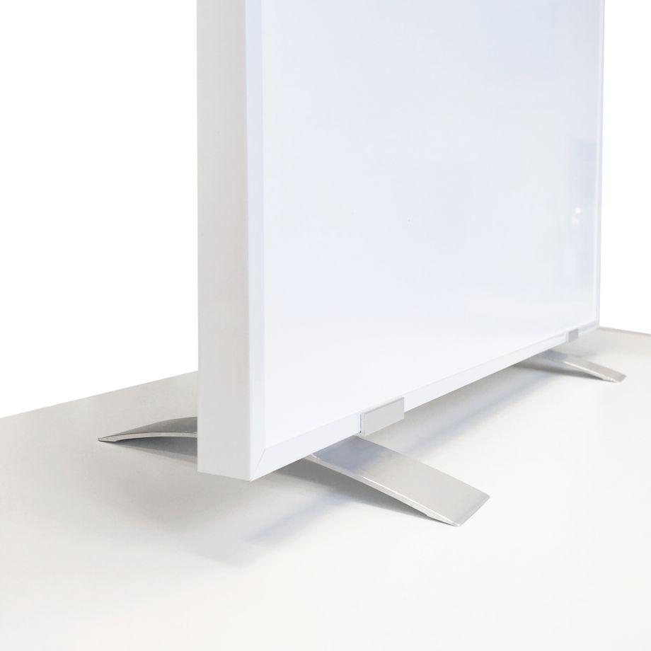 VIESTA SF2 Standfüße für Infrarotheizung, Standfuß passend für F- und CF-Serie Heizpanel, Flachheizkörper - für freistehende Verwendung Elektroheizung, Ständer (2er Pack) -  Aluminium, Zubehör silber – Bild 1