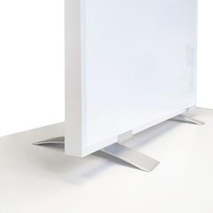 VIESTA SF2 Standfüße für Infrarotheizung, Standfuß passend für F- und CF-Serie Heizpanel, Flachheizkörper - für freistehende Verwendung Elektroheizung, Ständer (2er Pack) -  Aluminium, Zubehör silber 001