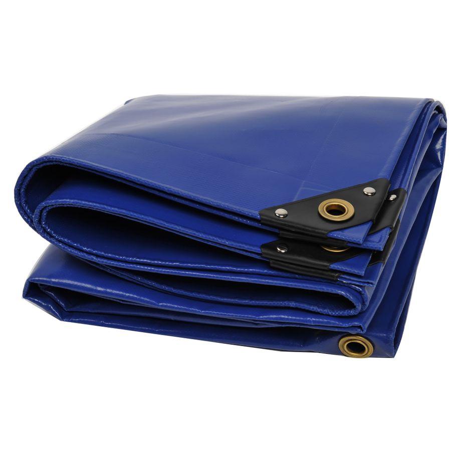 NEMAXX PLA32 Premium Abdeckplane 300x200 cm blau mit Ösen, 650 g/m² PVC wasserdicht & reißfest - hochwertige Plane universell für LKW, Pool, Holz Gartenmöbel - Abdeckung, Schutzplane, Gewebeplane, 6m² – Bild 1