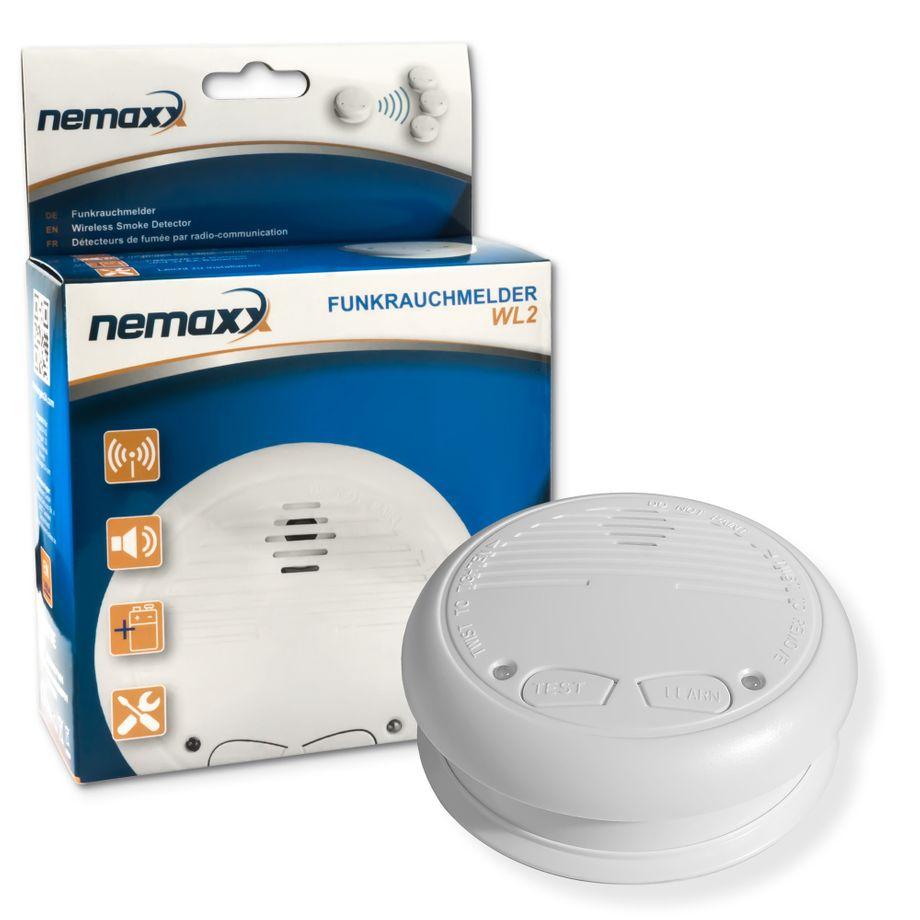 1x Nemaxx WL2 Funkrauchmelder - hochwertiger Rauchmelder Brandmelder Set Funk koppelbar vernetzt - nach DIN EN 14604 – Bild 1