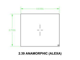 Mattscheibe UDF 2,39 Anamorphic (Alexa) – Bild 1